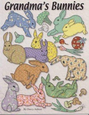 【傑美屋‧縫紉之家】美國拼布紙型書籍#GRANDMAS BUNNIES各種型態的兔子 兔寶寶
