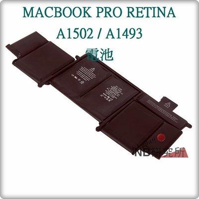 APPLE MACBOOK PRO RETINA A1502 / A1493 電池 台中可自取 蓄電不良 時間變短