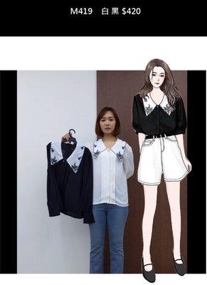 轉賣衣服日記韓國東大門Gunny Girls黑色蕾絲雪紡襯衫 正韓