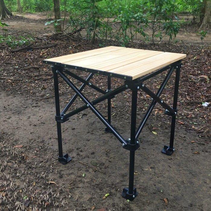 【綠色工場】WOOD系列實木折疊小方桌