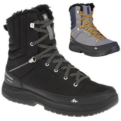 U潮健身-迪卡儂 QUECHUA男式男士戶外運動登山鞋耐磨保暖防水防滑雪地靴