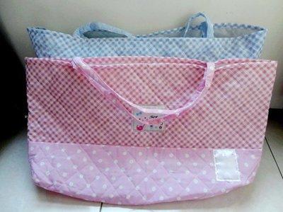 *SKY天天購* 超大容量 純棉 棉被包媽咪包 布包環保購物袋 旅行包被子包收納袋 粉色 淺藍色