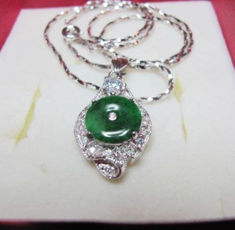 [一品軒促銷品]天然滿綠翡翠玉石豪華造型項鍊