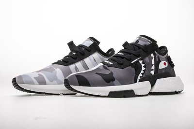 adidas BAPE NBHD Neighborhood POD-S3.1 EE9431 聯名 黑白 迷彩 鯊魚