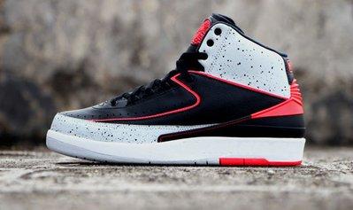 Nike Jordan 2 retro BG infrared cement 395718-023黑紅外線水泥大童鞋喬丹