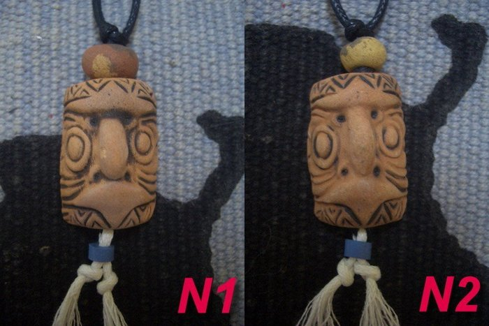 清倉大特賣☆印第安民族風特區☆純手工手塑陶項鍊-日本