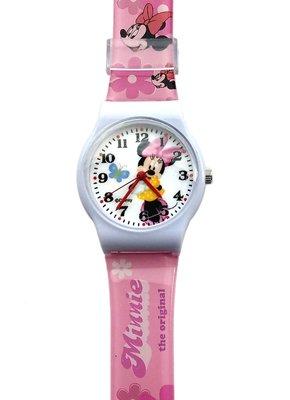 【卡漫迷】 米妮 膠錶 蝴蝶 ㊣版 台灣製 米奇 女朋友 Minnie 米老鼠 卡通錶 手錶 女錶 兒童錶 迪士尼