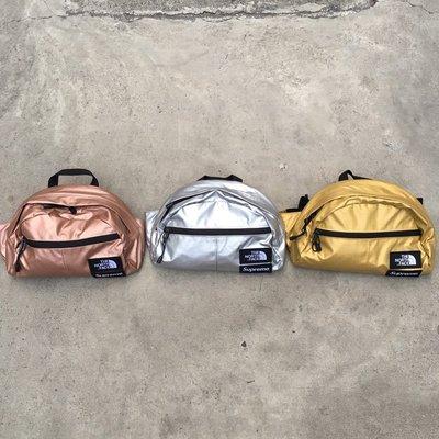 ☆LimeLight☆ Supreme x The North Face Metallic Waist Bag 腰包
