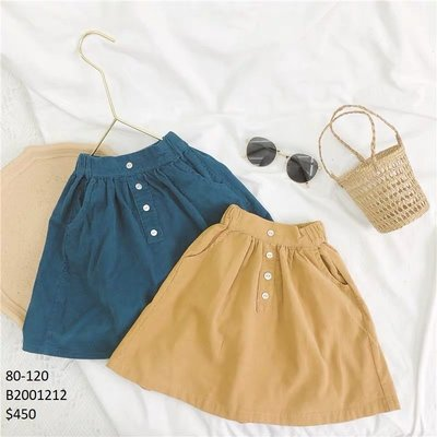 【Girl】 JC BABY 甜美燈心絨短裙(共兩色) #B2001212
