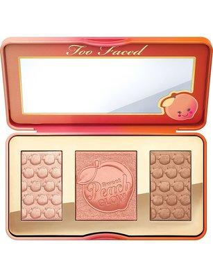 英國代購 TOO FACED 水蜜桃 打亮 腮紅 修容盤 Sweet Peach Glow palette