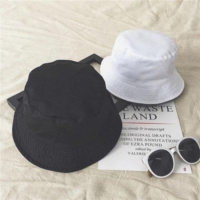 現貨?韓版純色黑白双面漁夫帽四季休閒百搭男女出由遮陽太陽帽光身盆帽