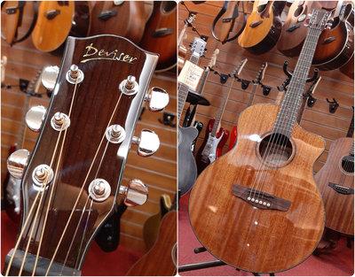 ♪♪學友樂器音響♪♪ Deviser LK-12 N 沙比利木 民謠吉他 木吉他 GA桶 40吋