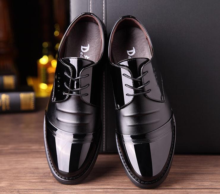 男士商務正裝黑色透氣皮鞋男休閒潮夏季韓版英倫尖頭內增高男鞋子 免運