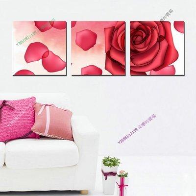 【50*50cm】【厚2.5cm】玫瑰之約-無框畫裝飾畫版畫客廳簡約家居餐廳臥室牆壁【280101_052】(1套價格)