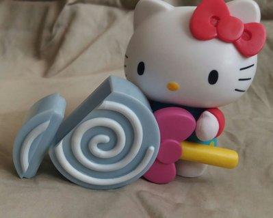 正版 hello kitty figure 模型 超迷你小儲存盒