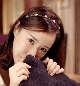 韓國七顆鑽  韓國 髮飾 頭飾 閃亮 水鑽 氣質甜美 髮箍 頭箍 N520