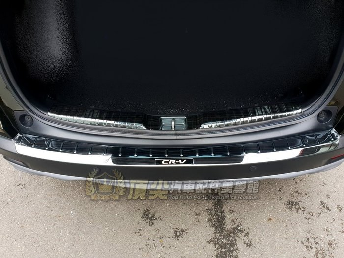 HONDA本田5代 5.5代【CRV5後護板-外置】2017-2021年CRV五代 不鏽鋼防刮飾板 保桿飾條 後廂保護板