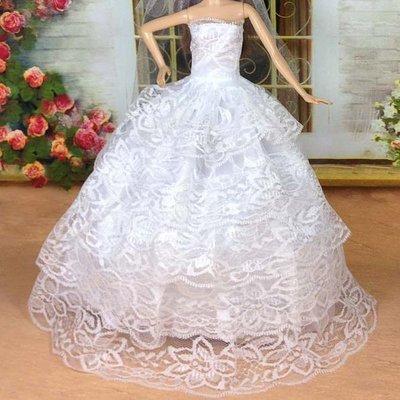 ♥萌娃的店♥ 可兒娃娃 芭比娃娃 衣服 服飾 全包紗禮服 婚紗 Doll Dress Evening Gown