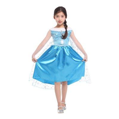 乂世界派對乂萬聖節服裝,萬聖節裝扮,變裝派對,兒童變裝服-冰雪服裝/愛紗公主服/雪藍愛莎公主