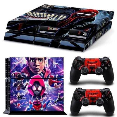 特價俠士PS4游戲機全身彩貼防刮彩貼彩膜蜘蛛俠平行宇宙彩貼可開發票