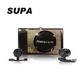 (送16G卡)【皓翔行車館】SUPA 588 金屬機身前後雙鏡頭高畫質機車行車記錄器