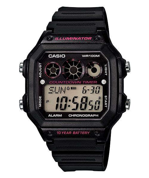 [ㄚ寶3C ] CASIO AE-1300WH-1A2 防水100米、世界時間、計時碼錶.(附台灣原廠保證書)
