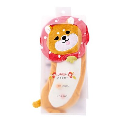 日本草莓款柴犬薰香眼罩 草莓果香味 療育 紓壓