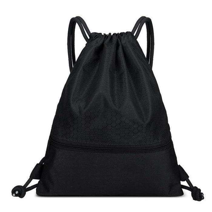 束口袋抽繩後背包男女防水輕便摺疊戶外旅行運動簡易背包健身包袋BLBH
