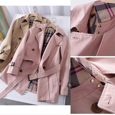 【2A Two】正韓〰️高品質 稀有粉色 綁帶風衣 外套『BB00445』短版風衣