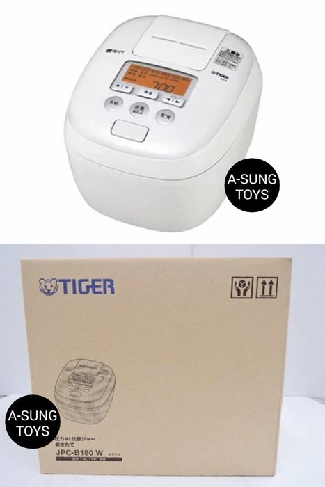 【空運】白色TIGER 虎牌 JPC-B180 壓力IH炊飯電子鍋 壓力IH電子鍋 5層遠紅外線特厚內鍋 10人份十人份