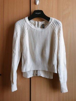 H M cream white fashion knit top zara asos river island topshop mango 外國米白冷針織襯衫