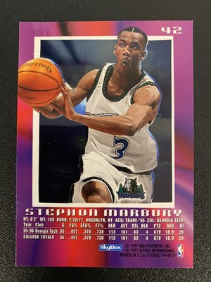 Stephon Marbury 1996-97 E-X2000 RC #42