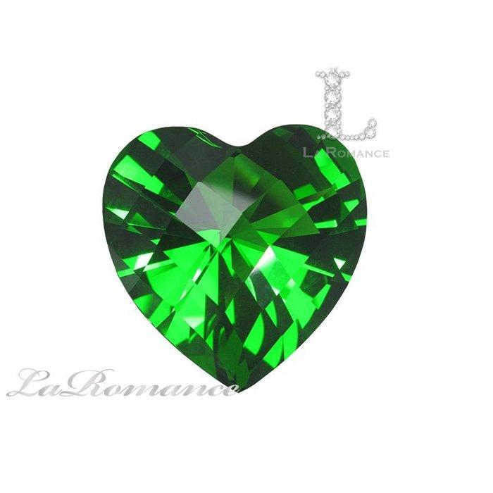 【芮洛蔓 La Romance】璀璨心型水晶鑽 – 綠色 / 主正財 / 幸運鎮財 / 繁榮昌盛 / 求婚 / 情人節