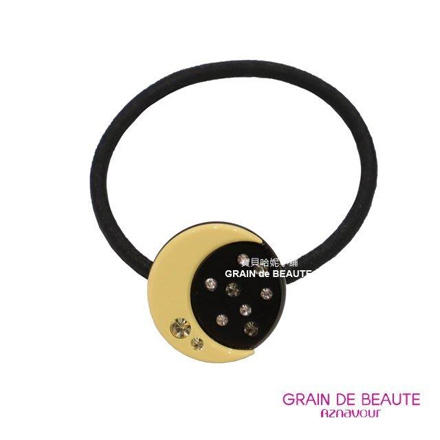 BHJ667-法國品牌Grain de Beaute 施華洛世奇晶鑽星空月亮髮圈 髮束【韓國製】Aznavour