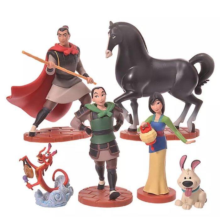 《FOS》日本 迪士尼 花木蘭 玩具 公仔 6件 木須龍 Disney 可愛 兒童 孩童 玩具 禮物 熱銷 2020新款