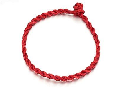 《316小舖》【AB12】 ( 高級麻繩-風靡全球安平紅繩-繩寬3mm ~ 單件價 紅色款 /批發紅繩批發價/紅繩手環)