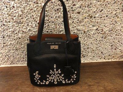ADMJ黑色水晶手提包(晚宴包)