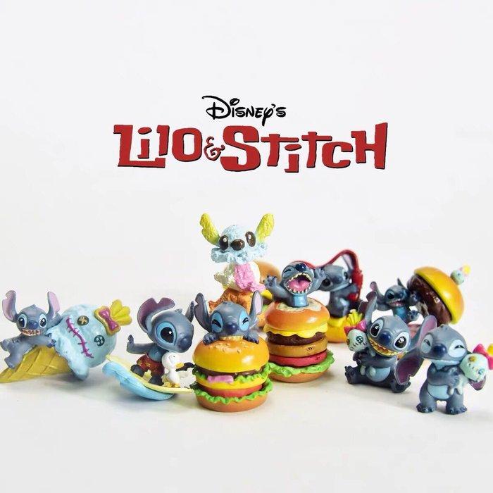 《瘋狂大賣客》迪士尼 Disney 史迪奇 小金 漢堡 冰淇淋 特別 模型 卡通 食玩 動漫 盒玩 蛋糕 禮物 盲盒 公仔 擺件 擺飾 可愛 療癒 造型 創意