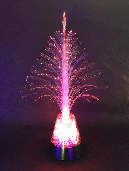 【阿LIN】180698 6號白寶石光纖樹 聖誕樹 造型燈 七彩 發光 聖誕節 飾品 裝飾 佈景 夜景 一標一入