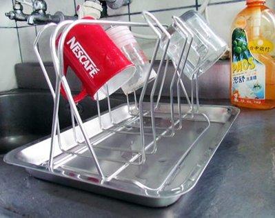 ☆成志金屬廠☆#304 不銹鋼S-18-1H瀝水杯架、奶瓶架可放3cm口徑的奶瓶