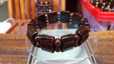 西藏瑪卡天珠材質手排手珠天然純淨老礦新...