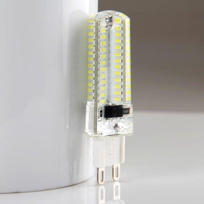 LED G9 7W 豆燈 自然光 水晶吊燈藝術燈G9豆燈 全新高亮度自然光 360度 珠燈 豆燈 7W超亮燈泡