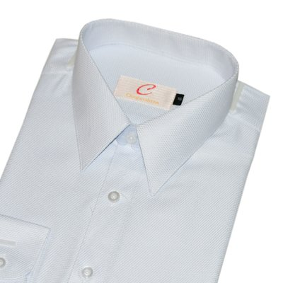 【CHINJUN-SHTON】細纖維抗皺襯衫-長袖、網眼紋、編號:066-7