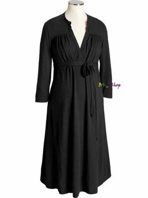 【美衣大鋪】☆ OLD NAVY 正品☆ Maternity Tie-Front Jersey Dresses V領洋裝
