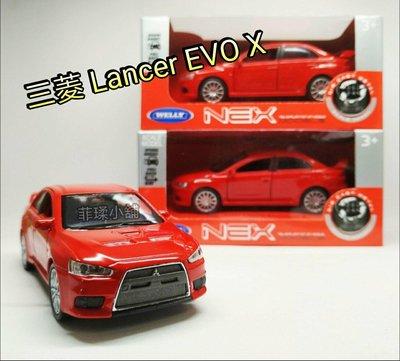 威利WELLY 1:36 三菱 Mitsubishi Lancer EVO X 合金迴力車