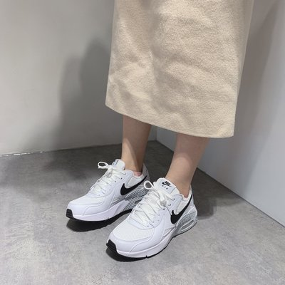【Dr.Shoes】Nike Air Max Excee 女 氣墊 休閒鞋 白黑CD5432-101