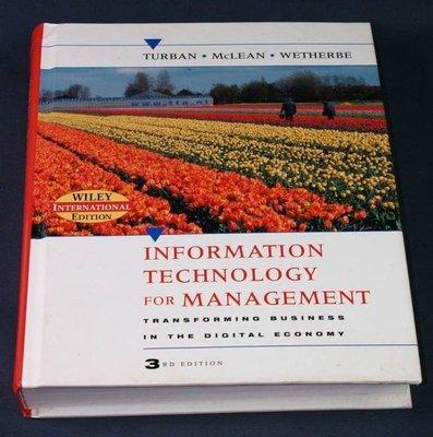 【懶得出門二手書】《Information Technology for Management》
