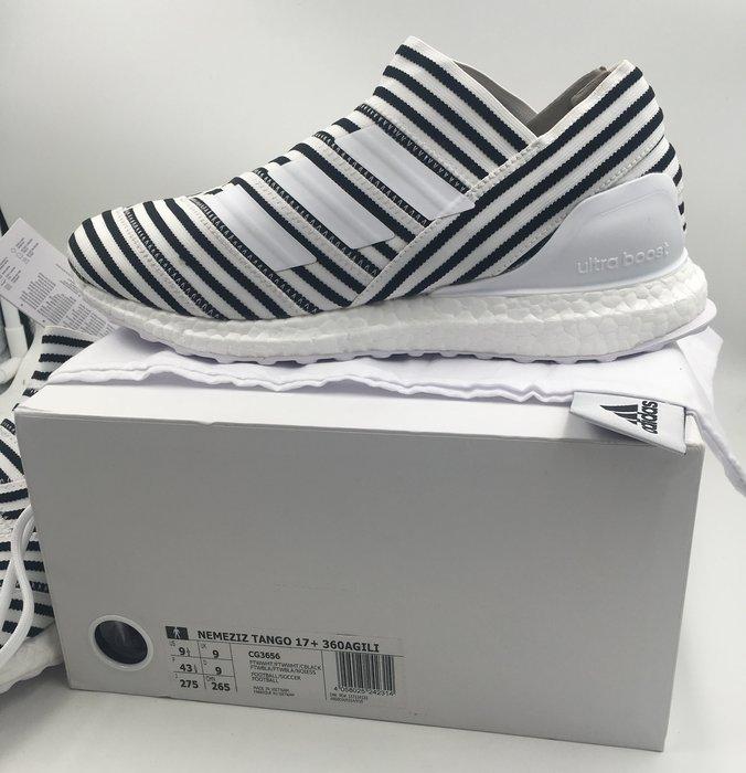 現貨 Adidas NEMEZIZ 17+ AGILITY ultra boost 斑馬 CG3656 US9.5