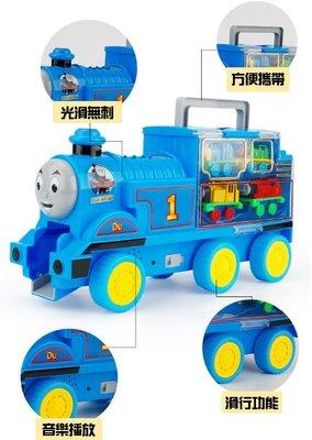 湯姆士合金收納小火車 收納小火車套組 小火車 迴力車 停車場 合金車【DJ-01A-15528】
