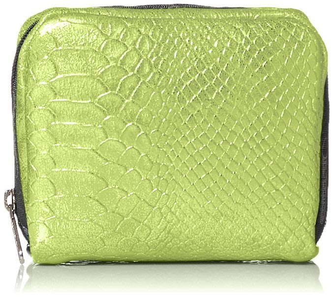 百元加購全新真品 LeSportsac 6701  正方型化粧包-蘋果綠蛇紋